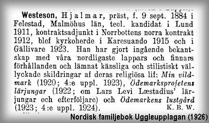 Hjalmar Westeson Nordisk familjebok
