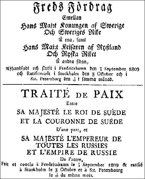 Fredsfördraget i Fredrikshamn