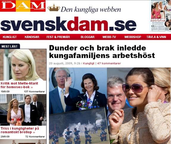 SvenskDam.se med Kungafamiljen i Ratan den 20 augusti 2009