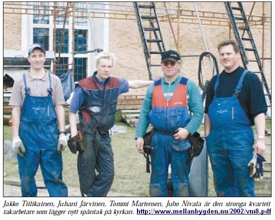 Bygdeå kyrktak 2002 VM 2002 nr 8